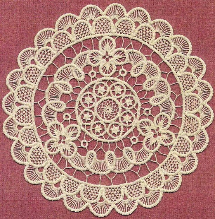 Point lace crochet