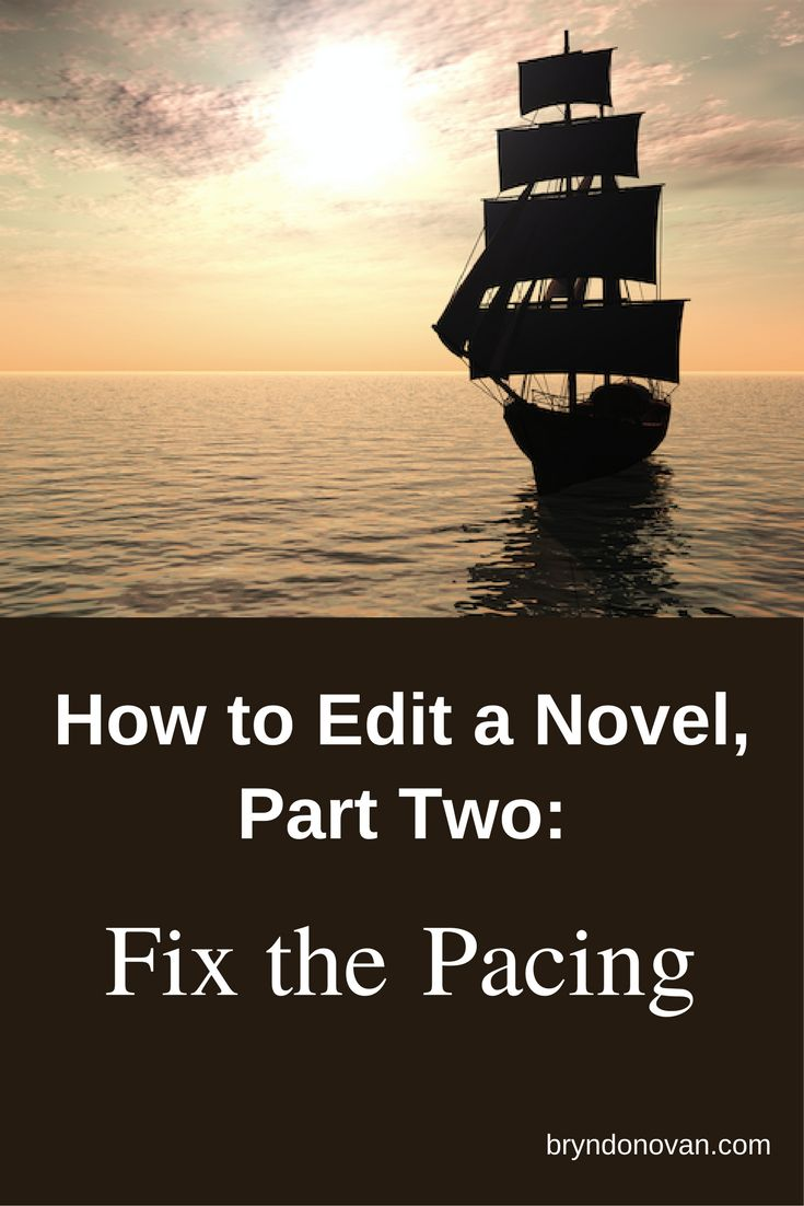 Part of a 7 Part Series! HOW TO EDIT A NOVEL, PART TWO: FIX THE PACING #how to write a novel step by step #editing #fiction