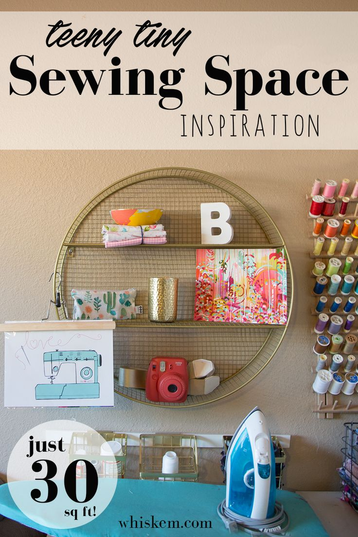 My (Super Small) Sewing Space: creating a sewing nook in just a corner of your house!
