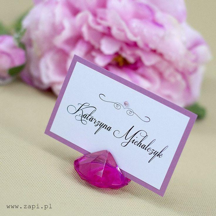 różowa winietka w krysztale