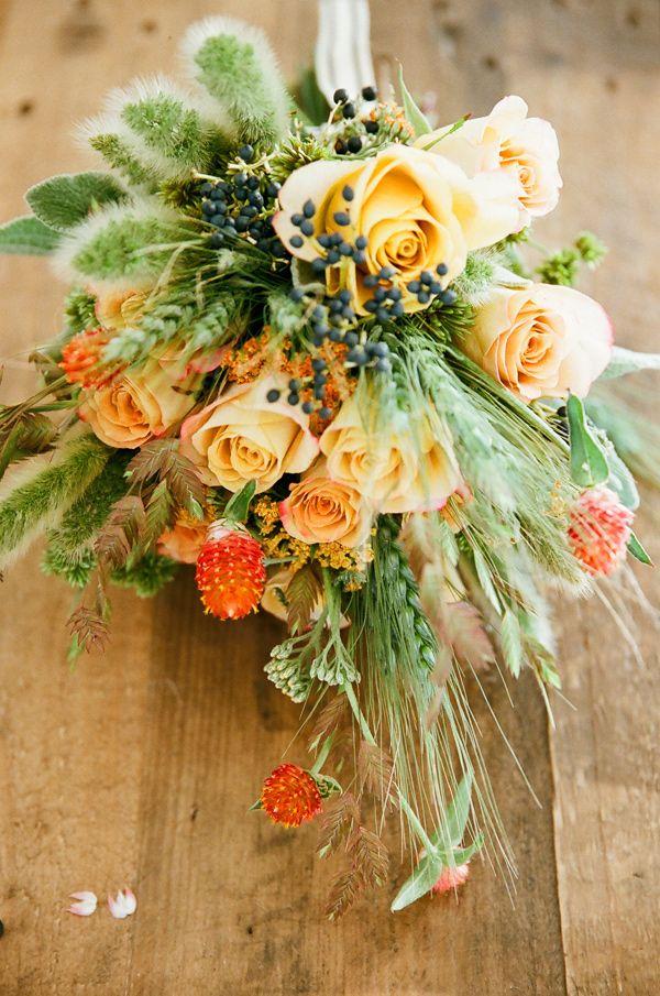 desert wedding bouquet, photo by This Modern Romance http://ruffledblog.com/wheat-nouveau-wedding-inspiration #bouquets #flowers