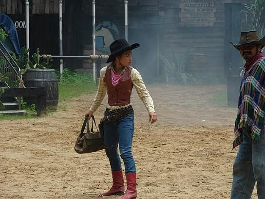 Cowgirl and Gringo Show at Safari World in Bangkok, Thailand