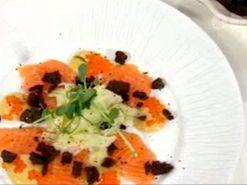 Sashimi med syrad fänkål
