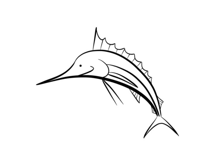 Swordfish Coloring Pages Edit