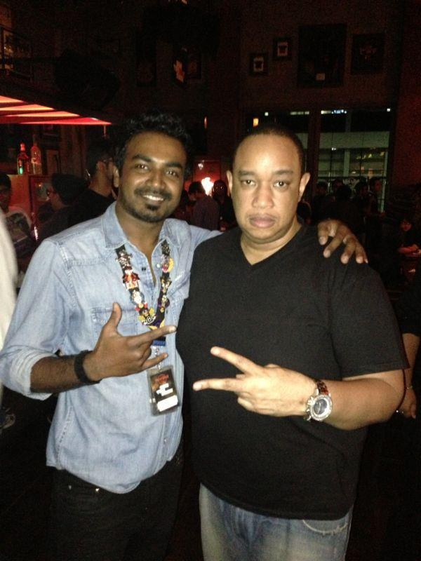 """Two time Grammy award winning record producer, writer, engineer and mixer, Rick """"Ricky"""" St. Hilaire was at Hard Rock Cafe Mumbai recently!"""