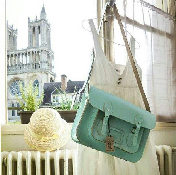 Mint satchel purse
