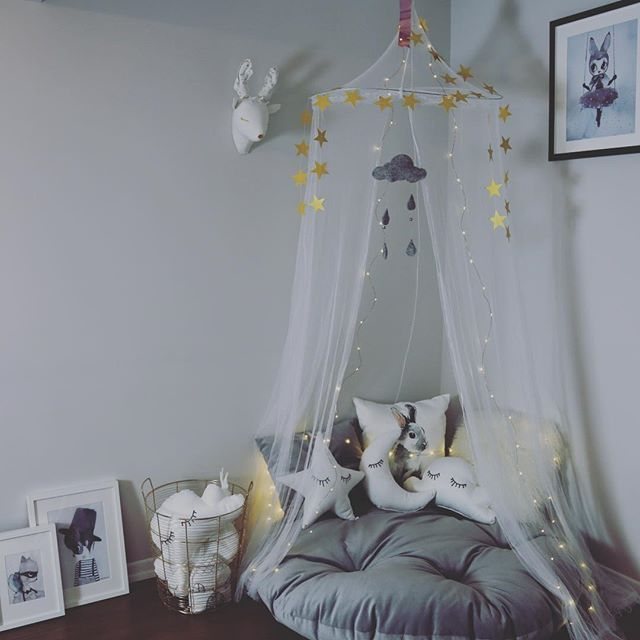 I am doing happy corners for children, with huge pillows, tepee, canopy, wall mounts and embroidered eyelash star - cloud - moon pillows. Felt rainy cloud mobile. All for the little ones all handmade. nursery  reading nook