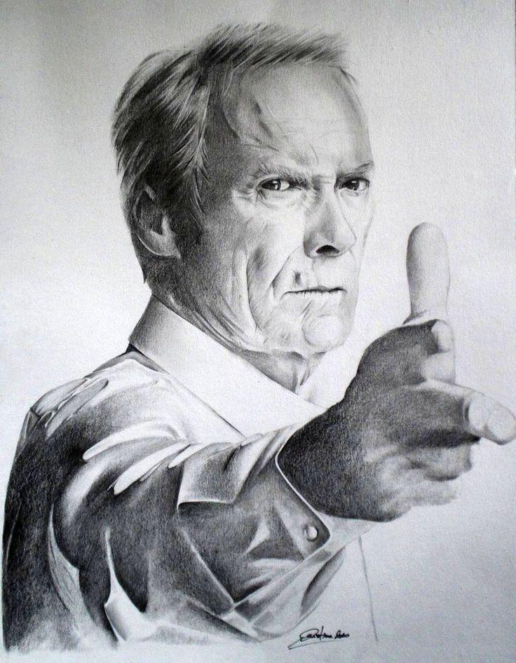 Clint Eastwood by CristinaC75.deviantart.com on @deviantART
