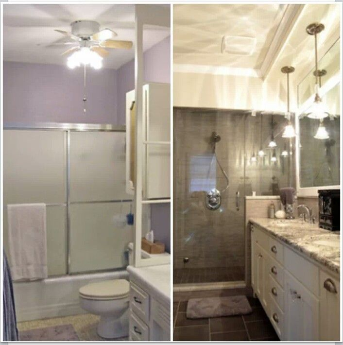 Before after gone is the bath tub replaced by a luxury for Bathroom rehab ideas