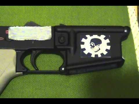 Custom AR15 Lower: Spike Tactical Receiver, Magpul CTR, Troy Battle Ax Grip, YHM Single Sling Mount - http://fotar15.com/custom-ar15-lower-spike-tactical-receiver-magpul-ctr-troy-battle-ax-grip-yhm-single-sling-mount/