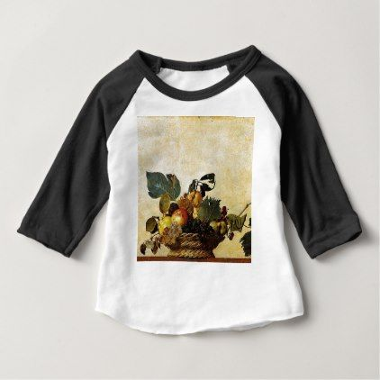Caravaggio - Basket of Fruit - Classic Artwork Baby T-Shirt - antique wedding gifts  special custom party