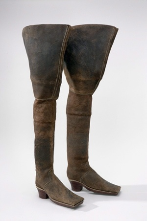 Swedish boots circa 1655