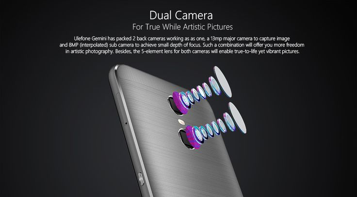 Ulefone Gemini 4G Phablet Android 6.0 5.5 inch MTK6737T 1.5GHz Quad Core 3GB RAM 32GB ROM Finger Scanner