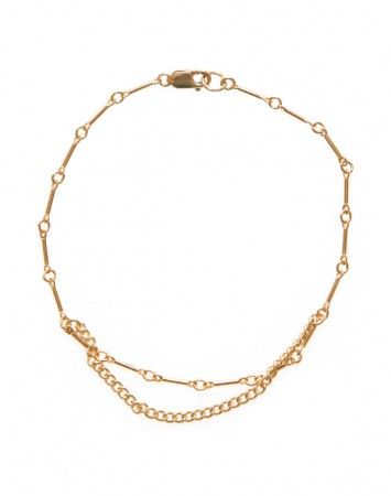 Petite GrandGold Bar Chain Drop Bracelet