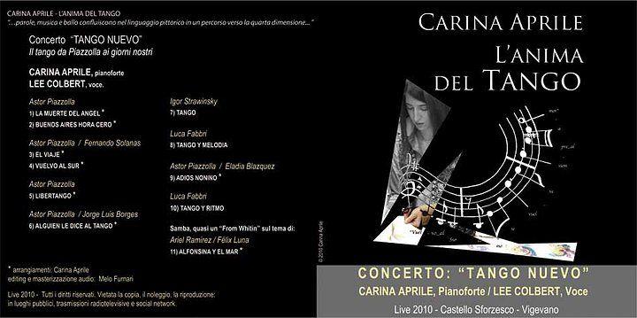 """Cover CARINA APRILE - L'ANIMA DEL TANGO/ Concerto """"Tango Nuevo"""" live 2010 by Carina Aprile"""