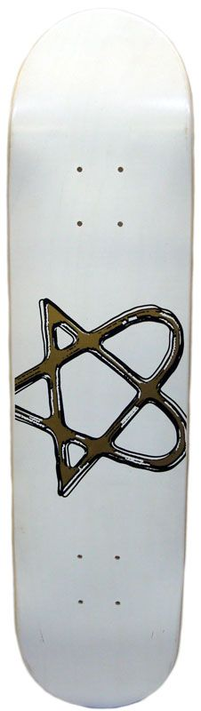 Heartagram Bam Blank Skateboard Deck 7.5