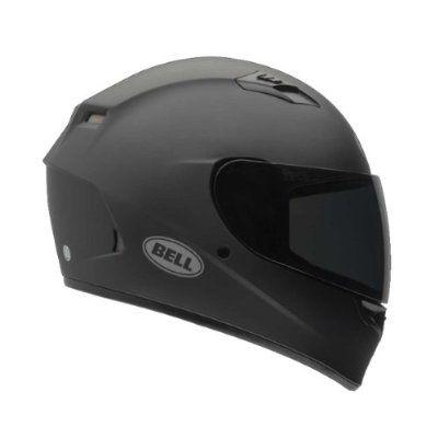 Bell Solid Adult Qualifier Street Bike Racing Motorcycle Helmet - Matte Black - Large