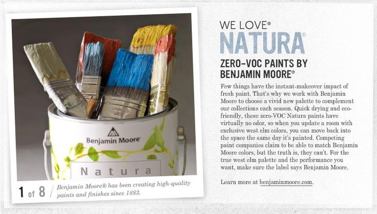 Natura paints by benjamin moore zero voc paint if you