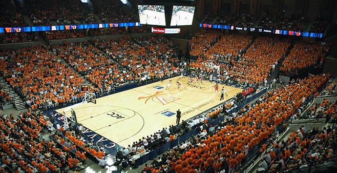 John Paul Jones Arena at capacity for a UVa basketball game! Charlottesville, VA