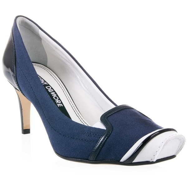 BERNY DEMORE Nautical court shoe ($335) ❤ liked on Polyvore