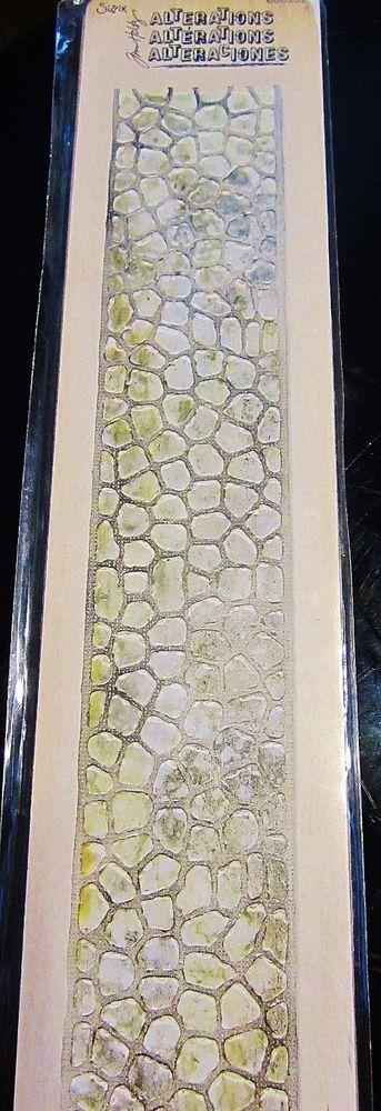 "Cobblestones 658252 Border Sizzix Sizzlits 12"" Decorative Strip Tim Holtz Die in Crafts, Scrapbooking & Paper Crafts, Scrapbooking Tools | eBay"