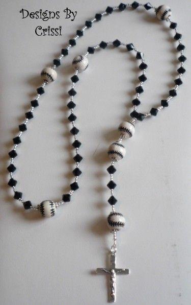 Baseball rosary for first communion for Austin