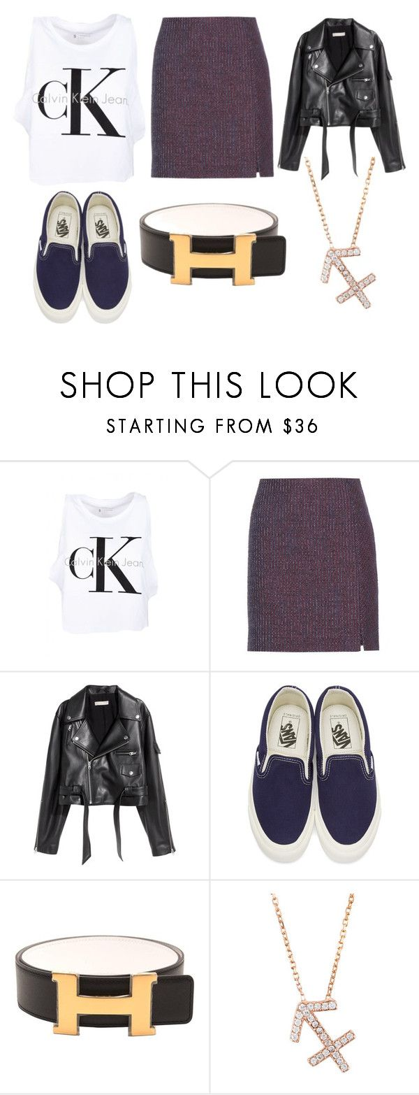 """SAGITARIO"" by ariartist-1513 on Polyvore featuring Calvin Klein, Carven, SKINN, Vans and Hermès"