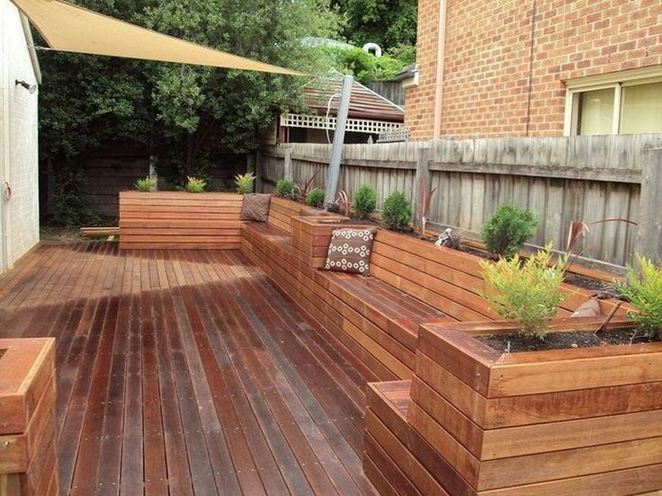 30 Exciting Outdoor Wooden Bench Seat Design Ideas With Planter Box Wooden Bench Outdoor