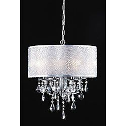 51 best inexpensive chandeliers images on pinterest ceiling lamps indoor 4 light chrome crystal white shades chandelier 17w aloadofball Image collections