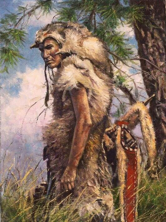 """Native Americans Indians""""Timber Wolf"""" ~ by Donald Oelze"""