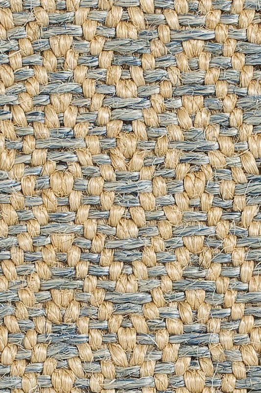 Dune sisal rug in Blue colorway, by Merida.