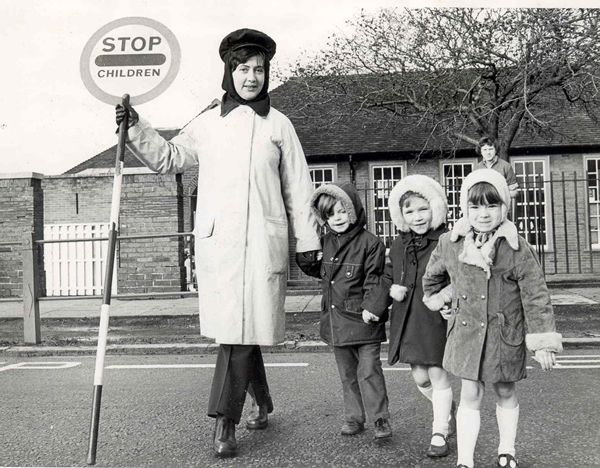Lollipop Lady - Loanends favourite was Kathleen who also helped out in the kitchens.
