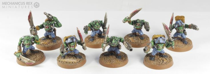Grot Gretchin Goblin Gobo Squad Ork  Blood Axe Clan Warhammer 40K