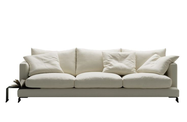 The Lazytime sofa is unrivaled in its sense of relaxation and supreme comfort. Unwind in the invitingly plush cushions filled with astonishingly soft premium down feather. As stylish as it is comfortable, the Lazytime packs a punch in the design stakes. Gently curved legs elegantly blend with a slim line profile giving an impression of polished luxury.  For a more compact version of this sofa visit the Lazytime Small sofa.