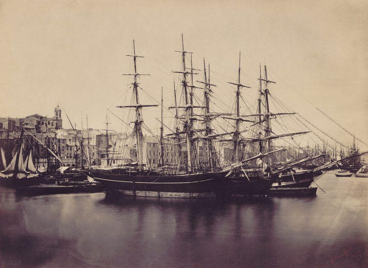 Groupe de navires, port de Sète, 1857