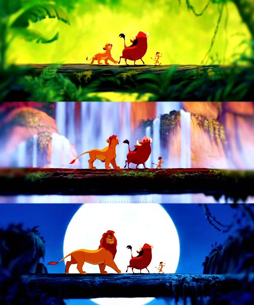 The Lion King...love this scene