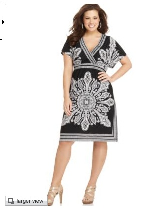 Short Sleeve Printed Empire Dress