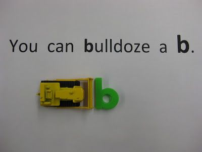 "My kids love to ""bulldoze the letter b"" and it really helps clear up b/d confusion.    (If they try to bulldoze a d, it just tips over. . . )  Free idea!"