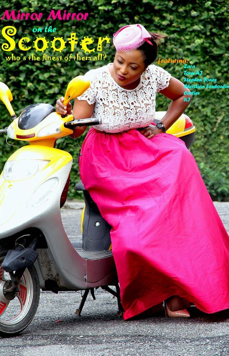 Toun 'AJ': Lady on a scooter