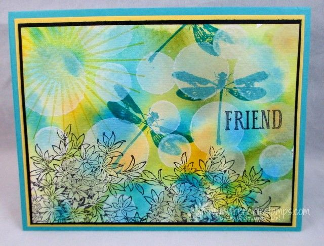 Stampin'Up! Awesomely Artistic for watercolor Bokeh www.frenchiestamps.com #awesomelyartistic