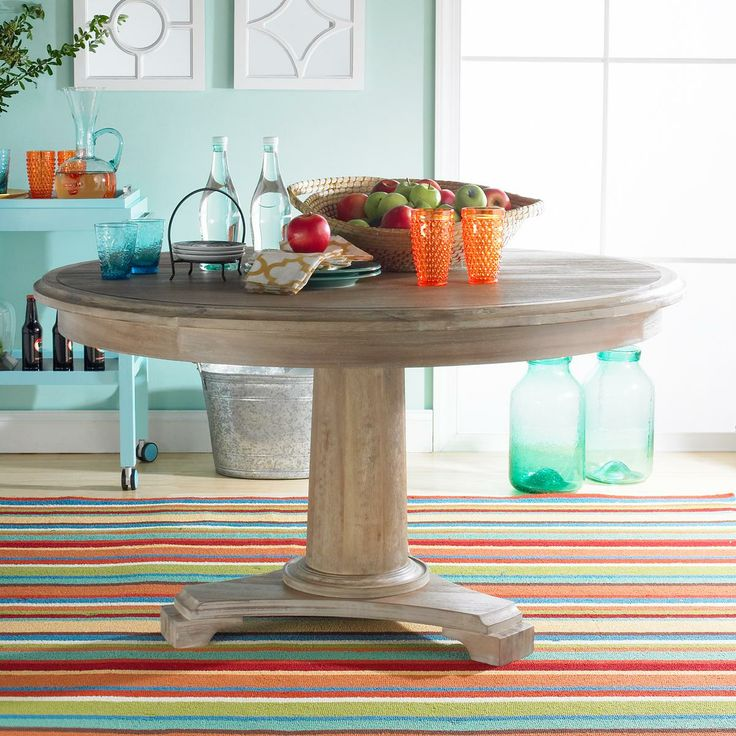 """54"""" Round Solid Wood Dining Table- Shades Of Light"""