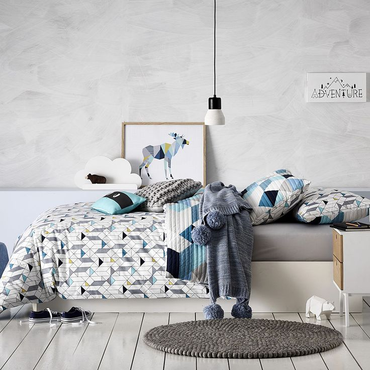 Adairs Kids - Mystic Dragon Quilted Quilt Cover Set - Bedroom - Quilt Ciovers & Coverlets - Adairs Kids Online