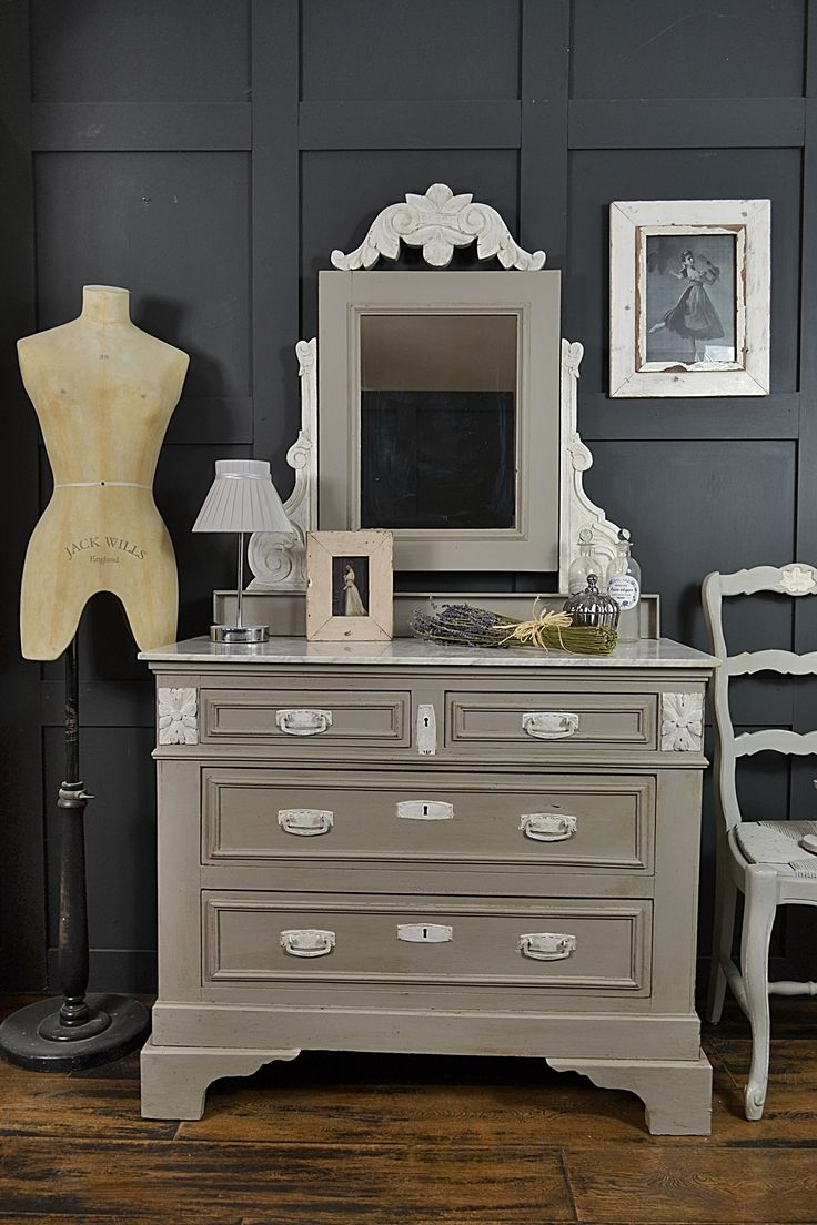 marble top bedroom furniture%0A This stunning shabby chic marble top dressing table chest of drawers from  France would make