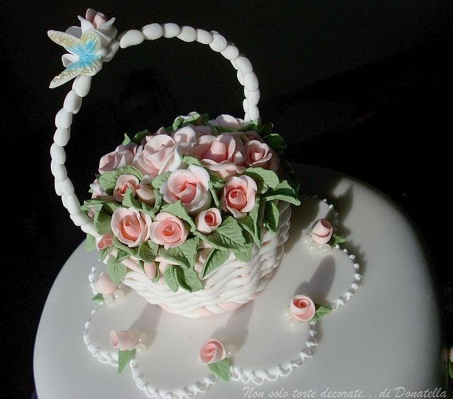 Basket Cakes en Pinterest  Cestas de costura, Tartas y Hornear pastel