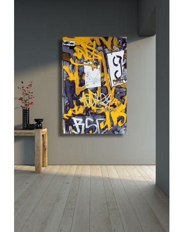 Yellow, black, white and grey urban graffiti canvas art print. Modern art for the modern home. http://www.didgiwidgi.co.uk/htm/canvas_art_gallery/graffiti_canvas_art/graffiti_art_canvas_6.htm