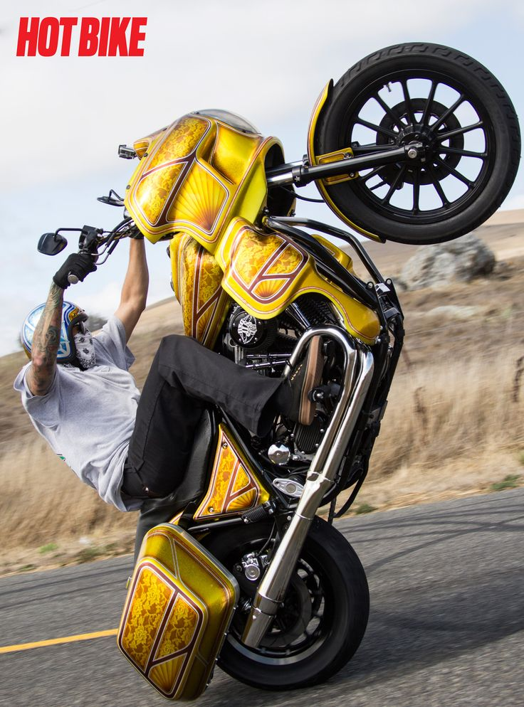 Journey Into the Unknown Stunts on custom Harley