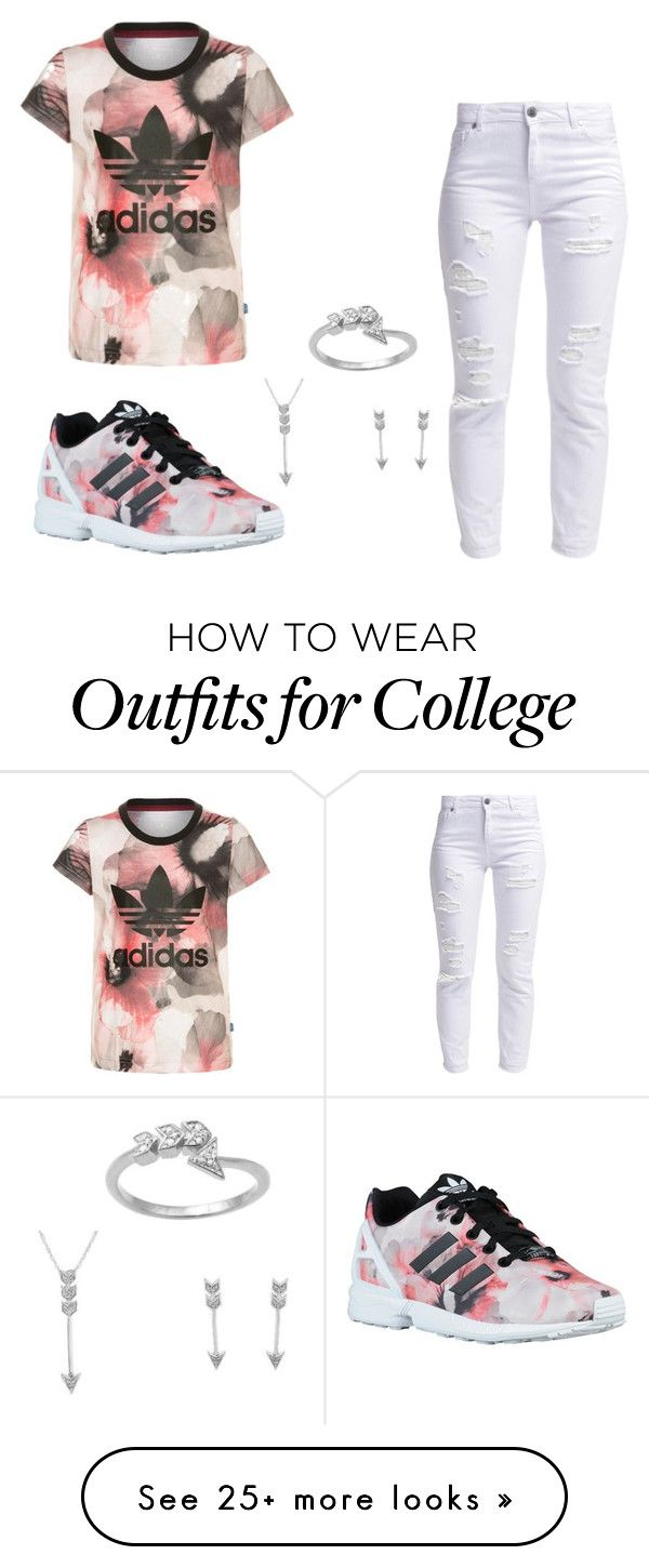 """""""Peach Adidas"""" by mizzbre02 on Polyvore featuring Miss Selfridge, Target and adidas Originals"""
