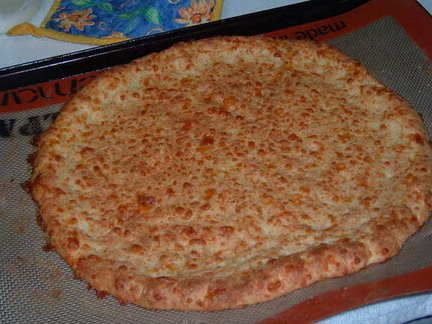 PORK RIND Pizza Crust Single Serving  or Multiply by 6 for full size pizza.  YUM