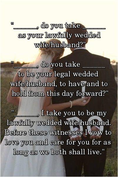Wedding Vows For Civil Ceremonies
