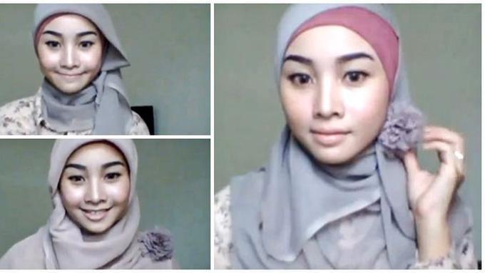 Gambar Tutorial Hijab Untuk Menari Hijab Gambar Kerudung
